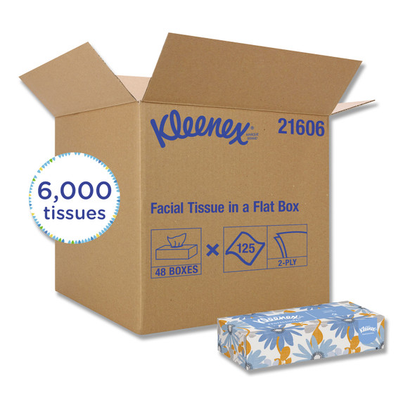 Get Kleenex 2 Ply Facial Tissue, 125/box, 48/case L21606 at Harmony