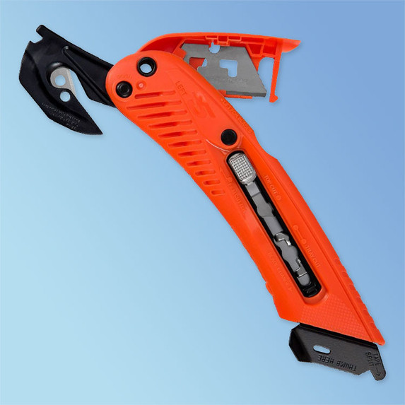S5 Left-Handed Orange Safety Cutter Utility Knife at Harmony