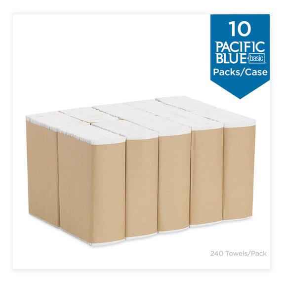 Get Pacific Blue Basic White C-Fold Paper Towels by Georgia-Pacific, 240 Towels Per Pack, 10 Packs Per Case, 2400/case 20603 at Harmony
