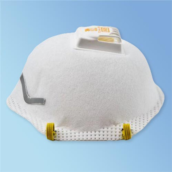 Get 3M 8511 N95 Respirator with Valve, 10/box LB8511 at Harmony (side view)