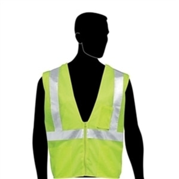 HivizGard Class 2 Mesh Safety Vest, Lime Green, each