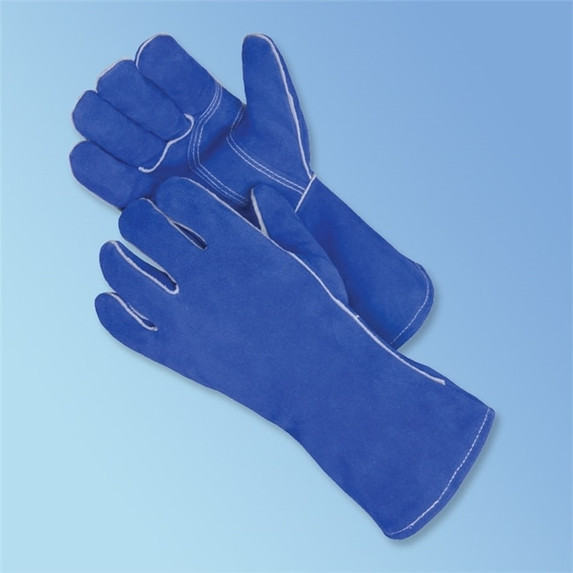 Get Blue Leather Welder Glove, 12/pr LIB7354 at Harmony