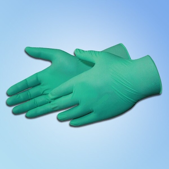 "DuraSkin 9"" Chloroprene Gloves, 6 mil, Green"