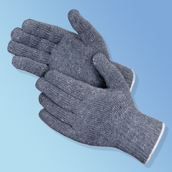 Get Gray Reversible Cotton/Polyester Knit Glove, 12/pr LIBP4517G at Harmony