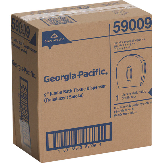 Georgia-Pacific 1-Roll Jumbo Jr. High Capacity Toilet Paper Dispenser, Smoke Gray, each | Harmony Lab and Safety Supplies