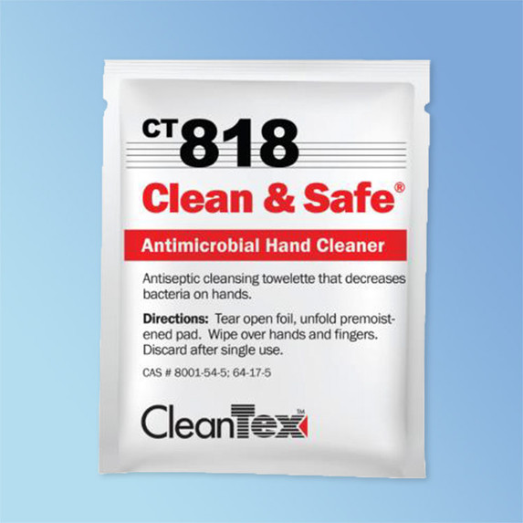 Get CleanTex CT818 Clean and Safe Hand Cleaner Wipes 72/box CT818 at Harmony