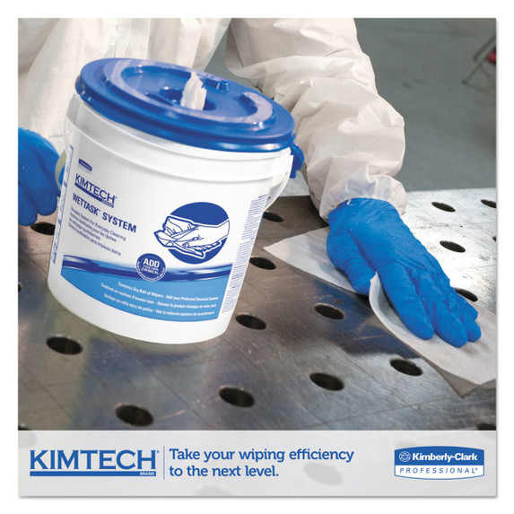 "Get Kimtech WetTask Wipes System, 12"" x 12.5"", 90/roll, 6 rolls/case L06411 at Harmony"