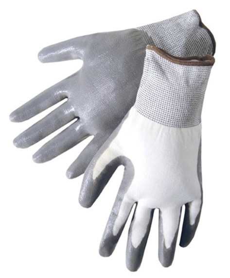 Get G-Grip Nitrile Foam Coated Glove, Gray/White, 12/pair LIBF4630G at Harmony