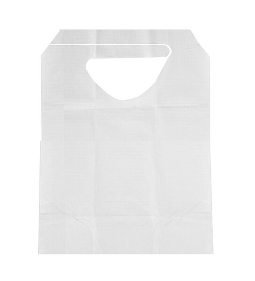 Disposable Bibs with Ties, White, 300/case