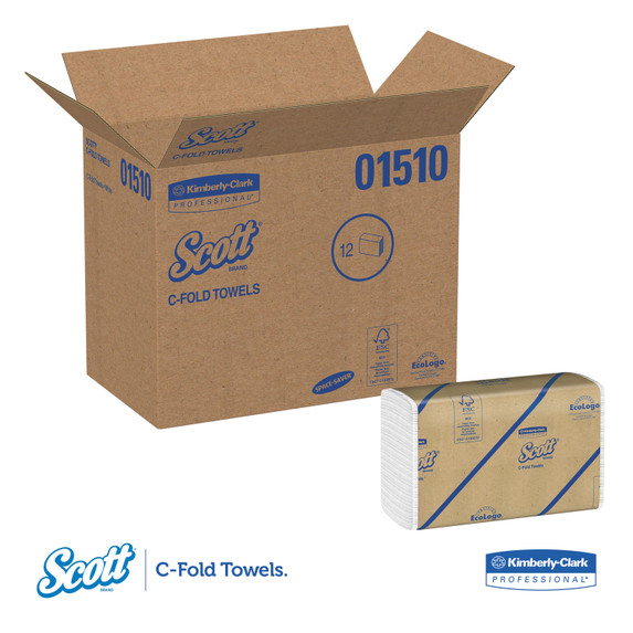 Get Scott Surpass White C-Fold Towel, 2400/case SWCFS at Harmony