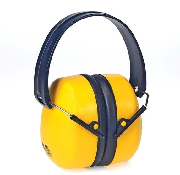 Get Foldable Ear Muffs, 34 NRR, Yellow LB1437Y at Harmony