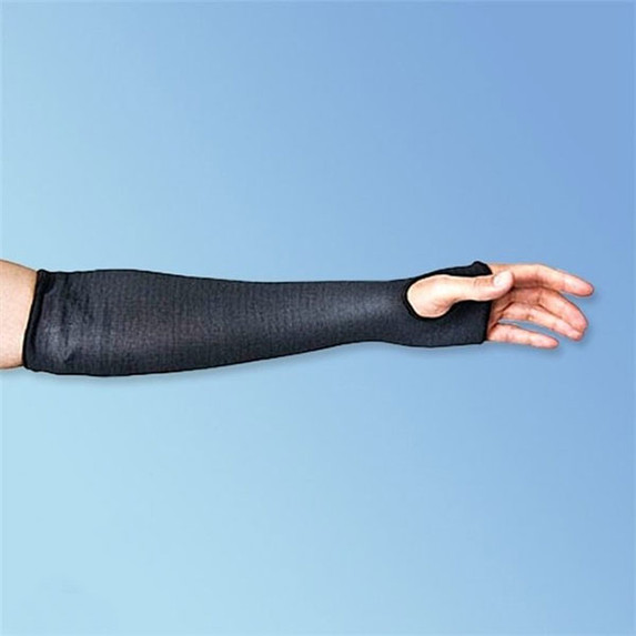 "Superior Glove Black Cutban 18"" Cut Resistant Arm Sleeves, with Thumbhole"