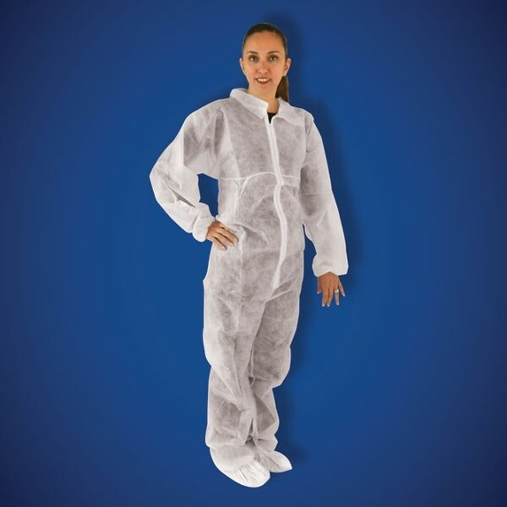 Get PolyGard White Polypropylene Coveralls, elastic wrist & ankle, 25/cs T180-WH at Harmony