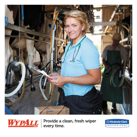 Wypall L10 Sani-Prep Dairy Towels, 9.3 x 10.5 in., 2400/case