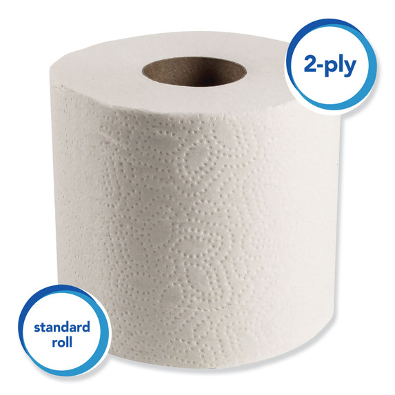 Scott 2 Ply Toilet Tissue, 605/roll, 80 rolls/case