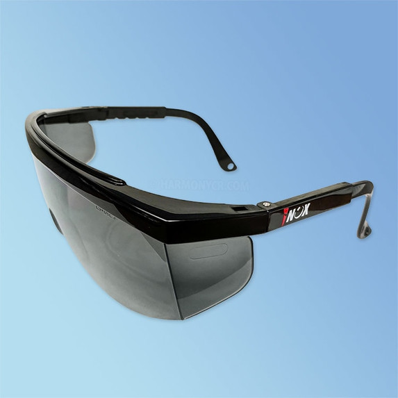 iNOX 1710G Guardian Safety Glasses, Grey Tinted Lens, Black Frame