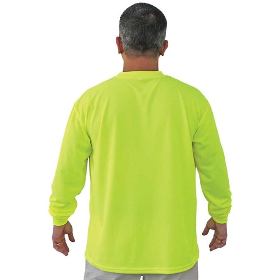 Get Fluorescent Lime Green Mesh T-Shirt, Long Sleeve LIBN16700G at Harmony