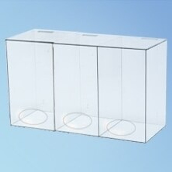 Three Compartment Dispenser, 15 3/4 in., each | Harmony Lab and Safety Supplies