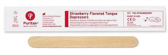 Puritan Strawberry Flavored Tongue Depressor | Harmony Lab and Safety Supplies