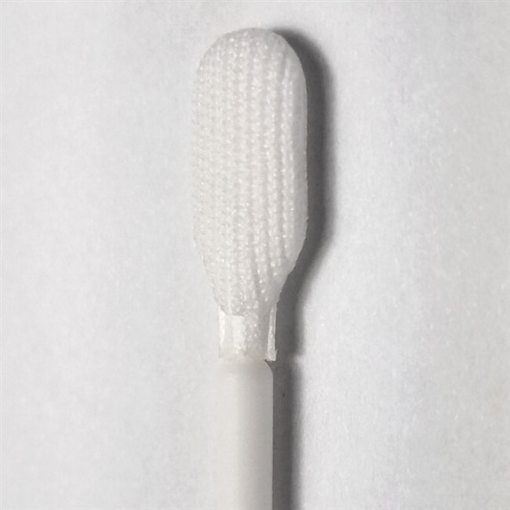 Tekniswab Elongated Tip Knitted Polyester Swab, 6 in., Polypropylene Shaft, 100/bag | Harmony Lab and Safety Supplies