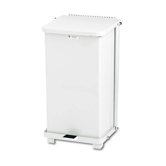 Get Steel Step Waste Receptacle, 12 Gallon, White SST12EPLWH at Harmony