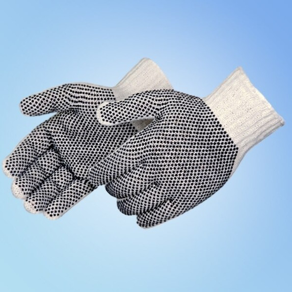 Get Men's & Ladies Cotton/Poly String Knit Gloves with PVC Dots, 12 pair L4715 at Harmony