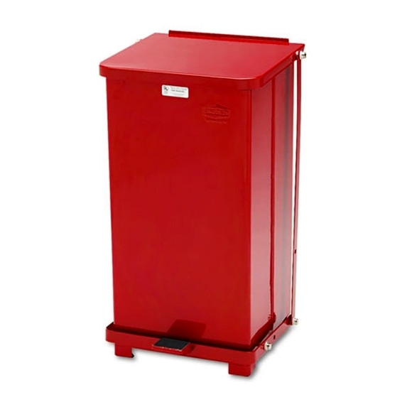 Get Steel Step Waste Receptacle, 12 Gallon, Red SST12EPLRD at Harmony