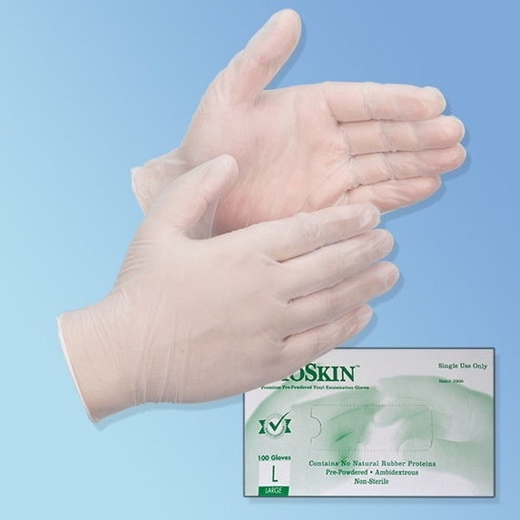 Get BioSkin 5 mil Vinyl Exam Gloves, Powder Free TGLVPF at Harmony