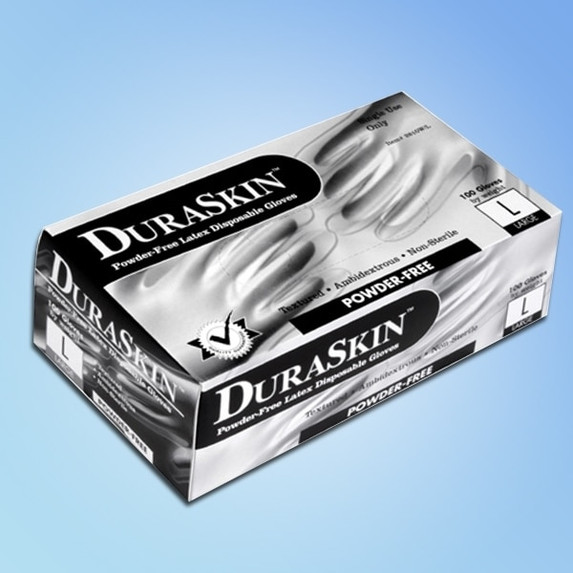 DuraSkin 5 mil Powder Free Latex Gloves