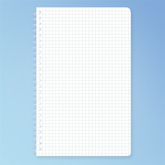 Cleanroom Notebook, 5.5 x 8.5 in. Engineering Grid, 100 Pages, each