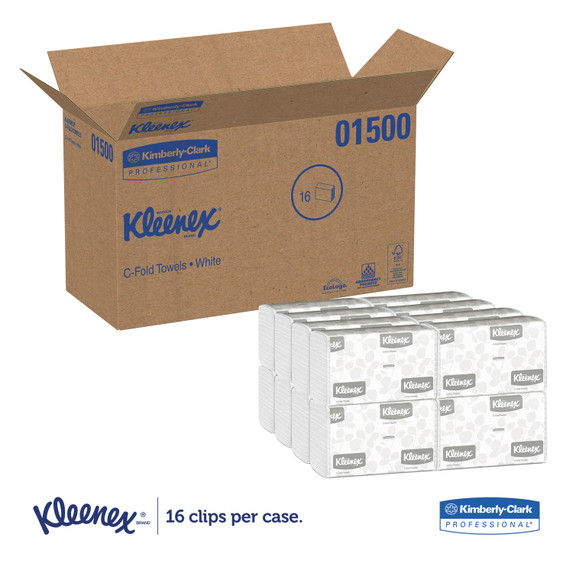 Get Kleenex White C-Fold Towels, 2400/case LWC at Harmony