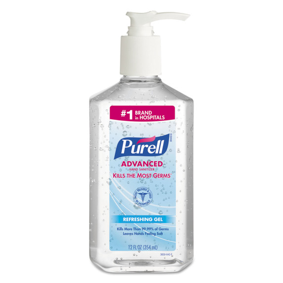 Get Purell Hand Sanitizer, 12 oz. Pump Bottle, 12/case X9659 at Harmony