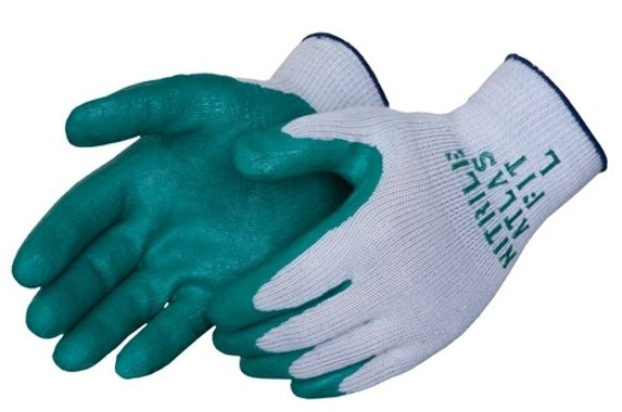 Get Showa Atlas 350 Textured Nitrile Coated Glove, Green/Gray, 12/pair LIB350 at Harmony