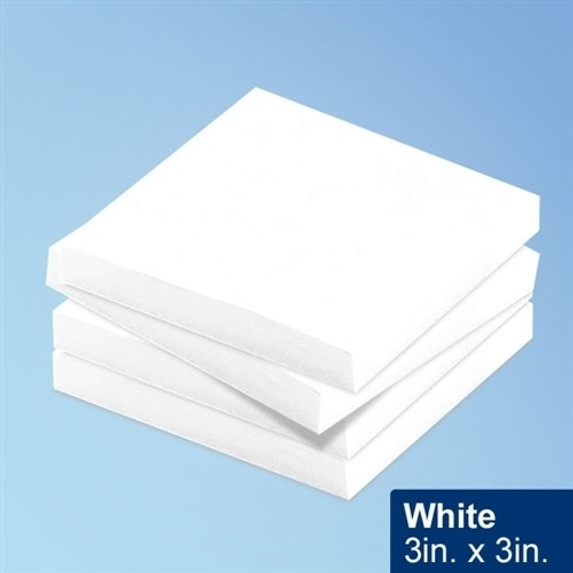 """Get White Cleanroom Sticky Notes, 3"""" x 3"""" , 100/Pad, 10 Pads/pack TNOTE33-WH at Harmony"""