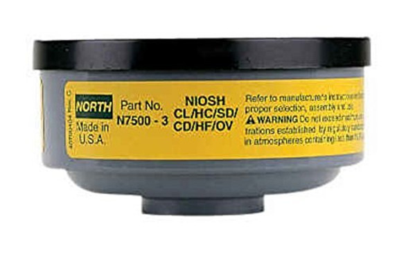 Get Honeywell North Honeywell North N75003L Organic Vapor Acid Gas Cartridge, 1 pair, at Harmony