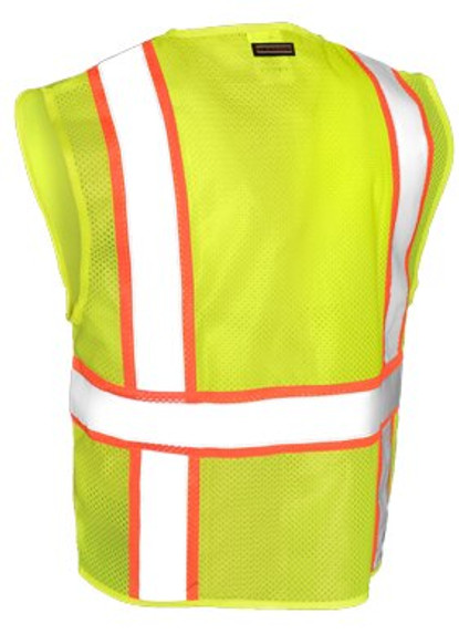 ML Kishigo Class 2 Mesh Contrast Safety Vest, 6 Pockets, Lime Green, each