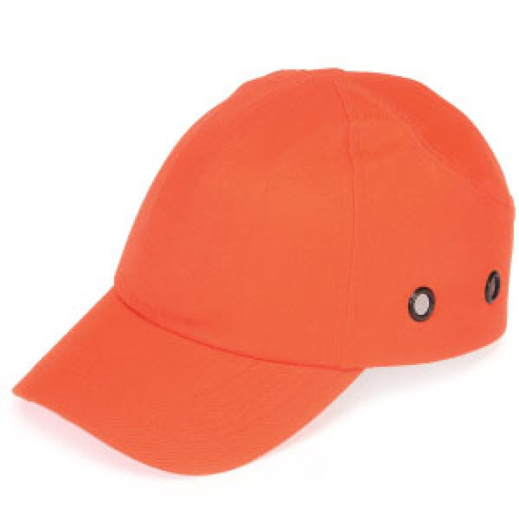 Get Durashell Baseball Bump Caps, 4 Point Standard Suspension, Blue, Hi-Vis Orange, LB1410HO at Harmony