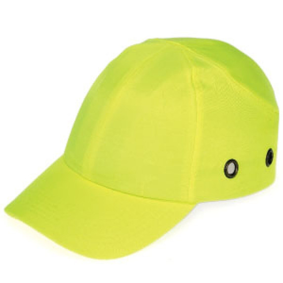 Get Durashell Baseball Bump Caps, 4 Point Standard Suspension, Blue, Hi-Vis Yellow LB1410HY at Harmony
