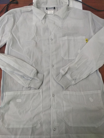Save on Estatec White Lightweight Polyester ESD Lab Coat with Knit Cuffs and 3 Pockets, ER2-WH at Harmony