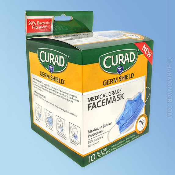 Curad Germ Shield Medical Grade Face Mask box
