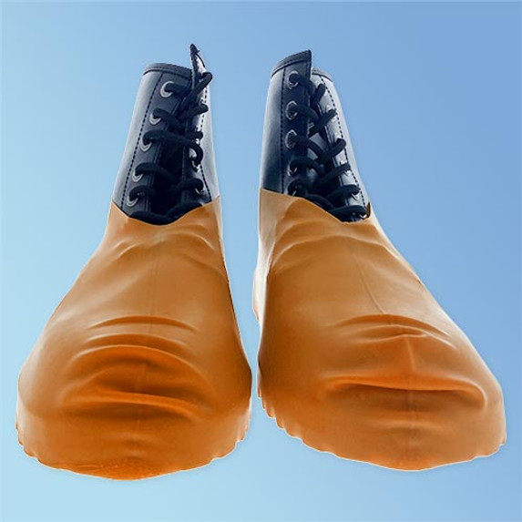 Keystone BC-RBR-OR-XL Heavy Duty Disposable Latex Shoe Cover (Front)