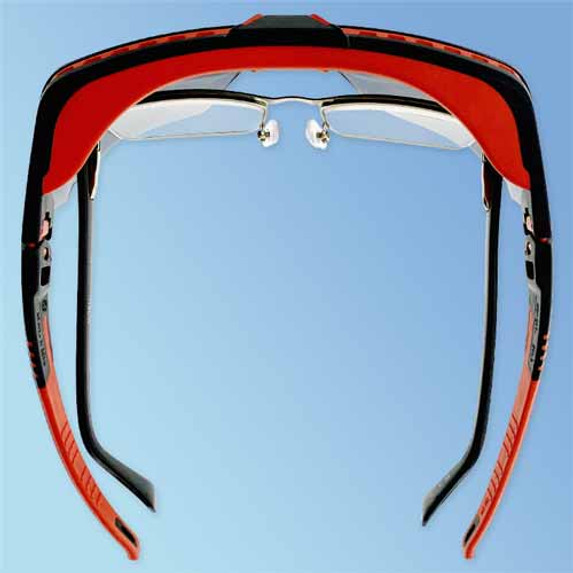 Uvex S3852 Avatar OTG Over-The-Glasses Safety Glasses, Anti-Fog Gray Lens (top)