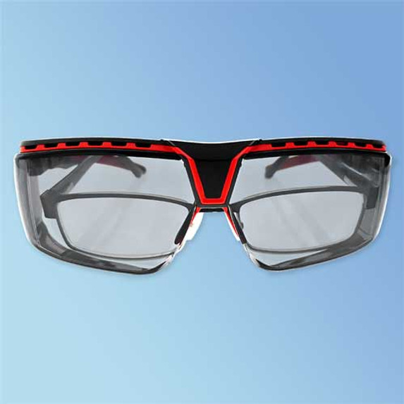 Uvex S3852 Avatar OTG Over-The-Glasses Safety Glasses, Anti-Fog Gray Lens (front)