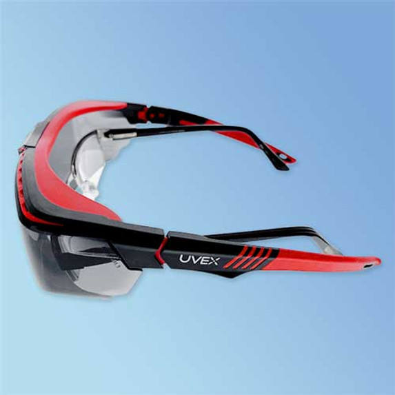 Uvex S3852 Avatar OTG Over-The-Glasses Safety Glasses, Anti-Fog Gray Lens (side)