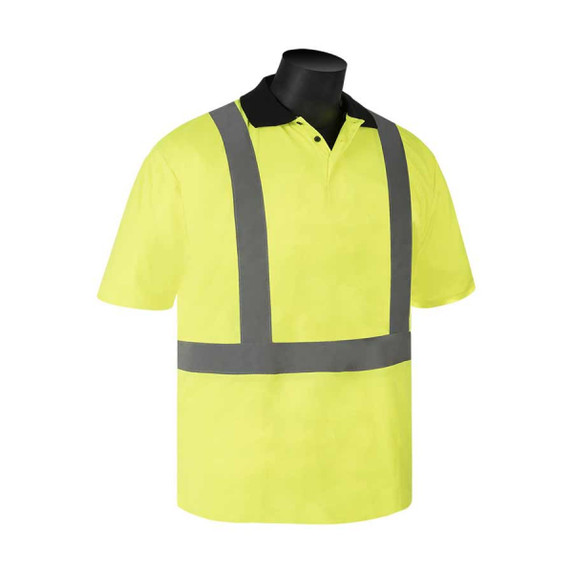 Get HivizGard Class 2 Mesh Safety T-Shirt with Collar, Short Sleeves, Lime Green, each (C16500G) at Harmony