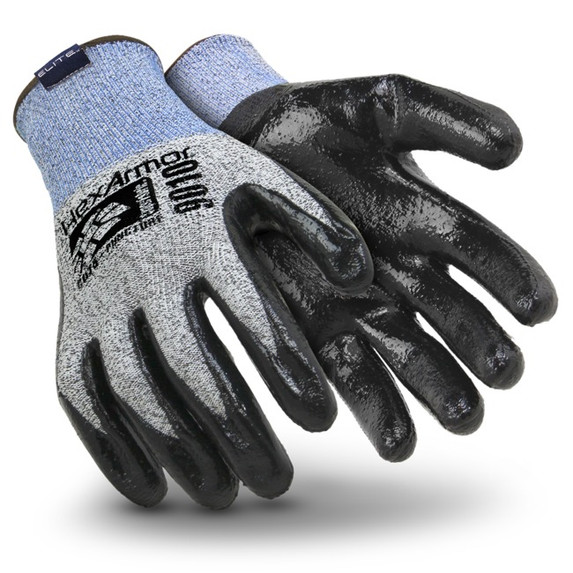 HexArmor® - 9000 Series™ 9010  Puncture & Cut Resistant Gloves with Nitrile Palm Coating at Harmony