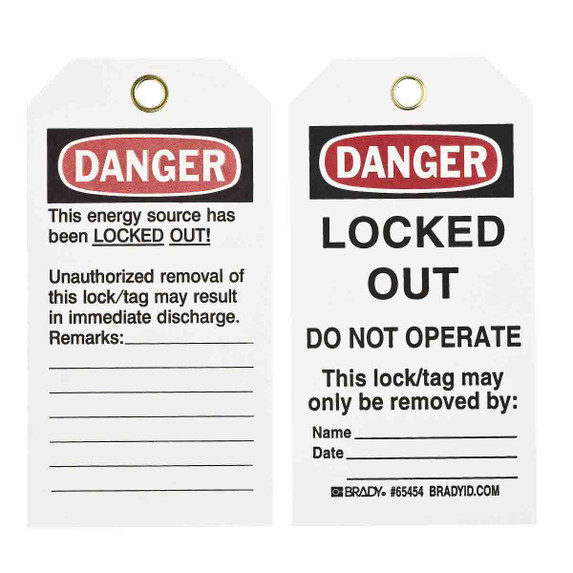 Get Brady Lockout Tags, DANGER DO NOT OPERATE, Non-laminated, Paper (BRC-65454) at Harmony