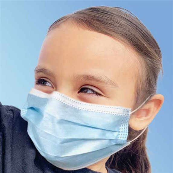 Get Blue Ear Loop Child Size Face Masks, 50/box (FM85171CHILD) at Harmony