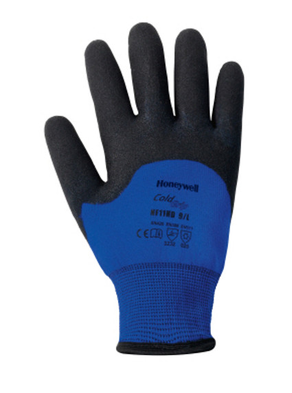 Get Honeywell Cold Grip Foam Latex 3/4 Coated Glove, Blue/Black, 12/pair (NF11HD) at Harmony