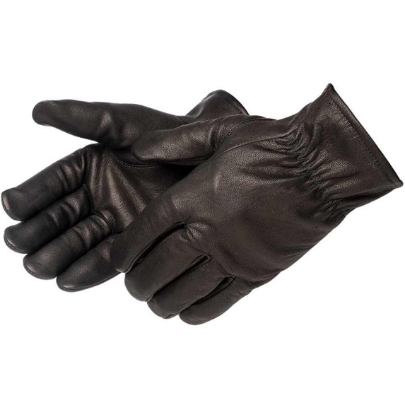 Liberty Glove 6837BK black fleece lined black goatskin leather driving gloves keep your sense of touch while protected from abrasions and cold weather. Save at Harmony.